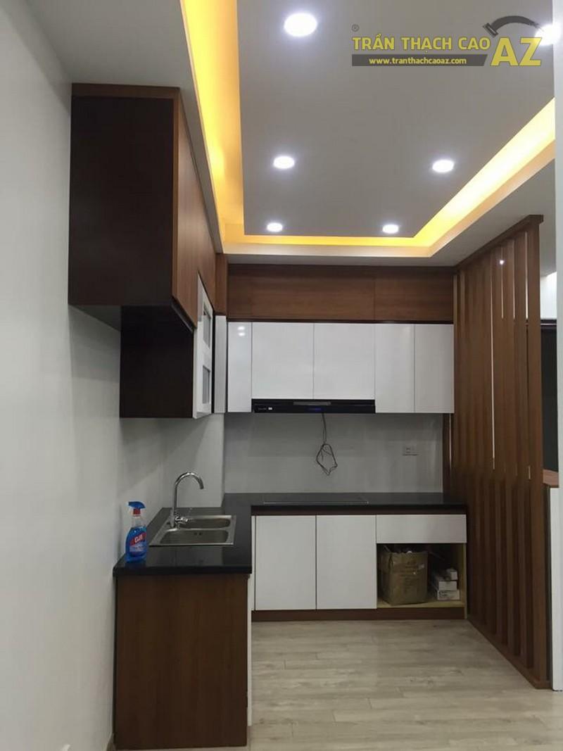 Thiết kế trần thạch cao phòng bếp đẹp của gia đình anh Chiến - 03