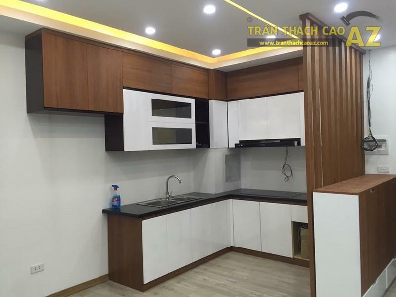 Thiết kế trần thạch cao phòng bếp đẹp của gia đình anh Chiến - 02