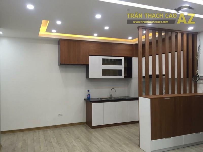 Thiết kế trần thạch cao phòng bếp đẹp của gia đình anh Chiến - 01