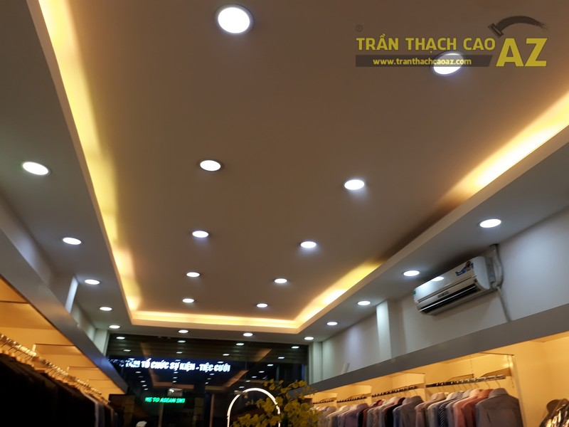 Tạo hình trần thạch cao giật cấp đẹp hiện đại, lịch thiệp của shop Mattana, số 63 Chùa Bộc - 04
