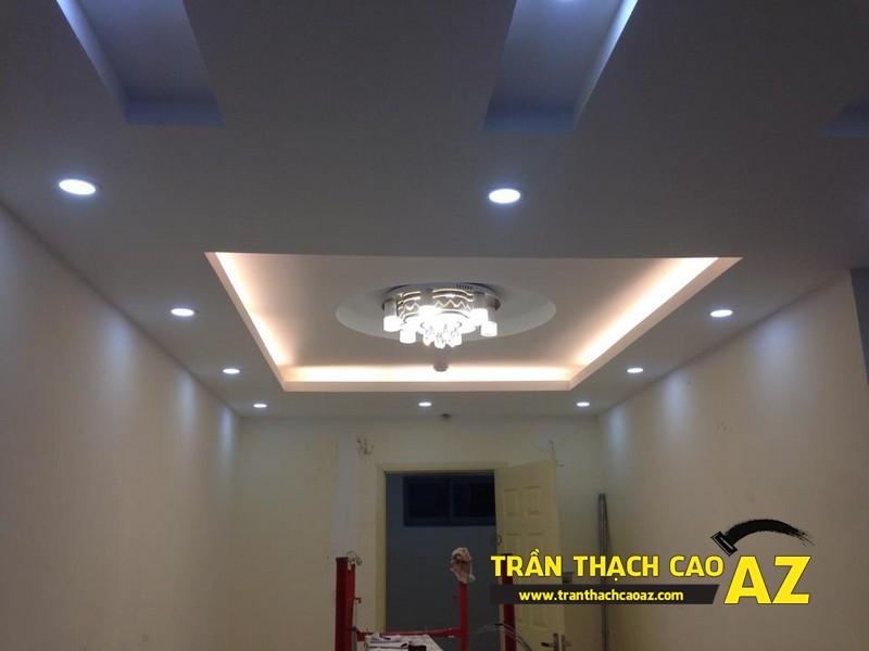 Trần thạch cao phòng khách nhà chú Đức, Biên Giang, Hà Đông, Hà Nội