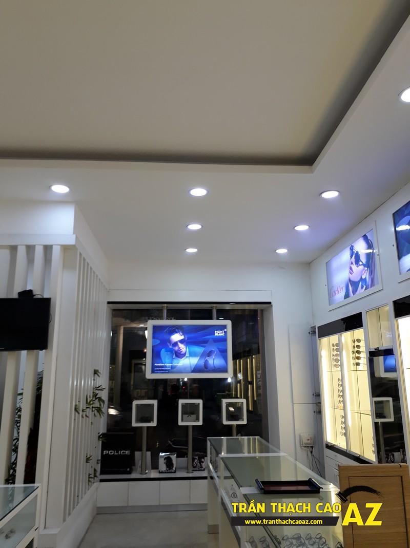 Trần thạch cao showroom đơn giản mà đẹp của kính mắt Tràng Tiền Optic, số 48 - 02