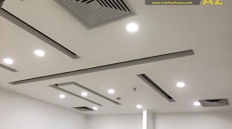 Trần thạch cao văn phòng đẹp hiện đại của Công ty TNHH DQS CERTIFICATION, Mai Động