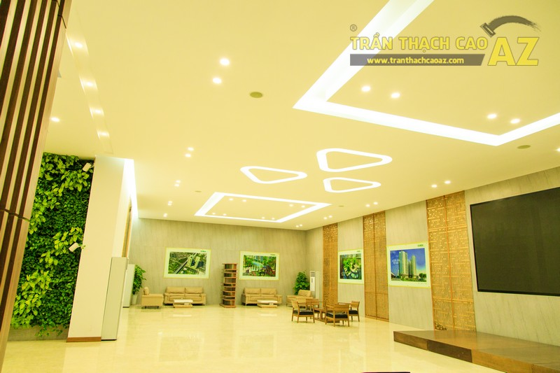Vẻ đẹp đẳng cấp, hiện đại của thiết kế trần thạch cao sảnh ECO GREEN CITY - 09