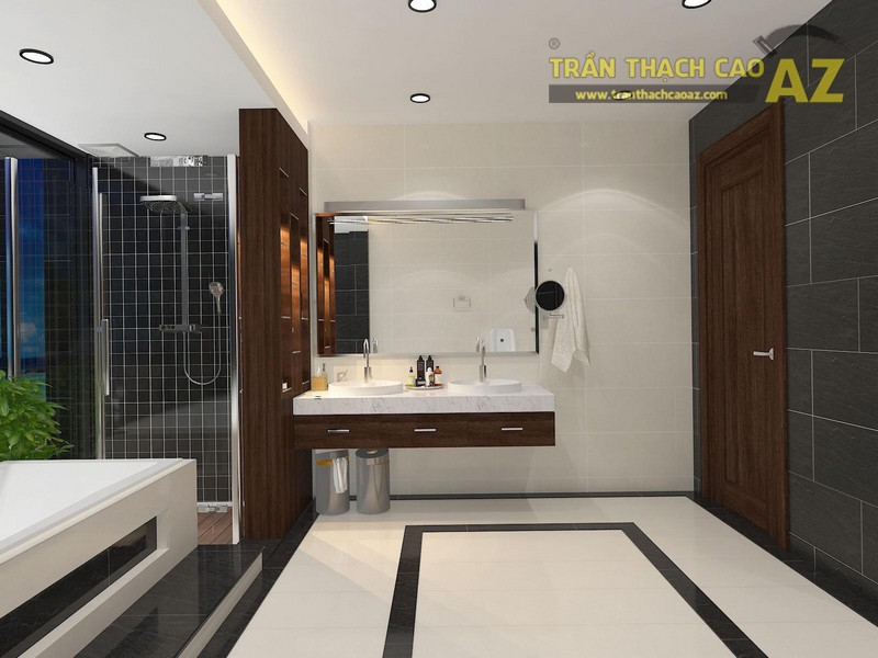 Xu hướng thiết kế trần thạch cao cho phòng tắm đẹp 2017