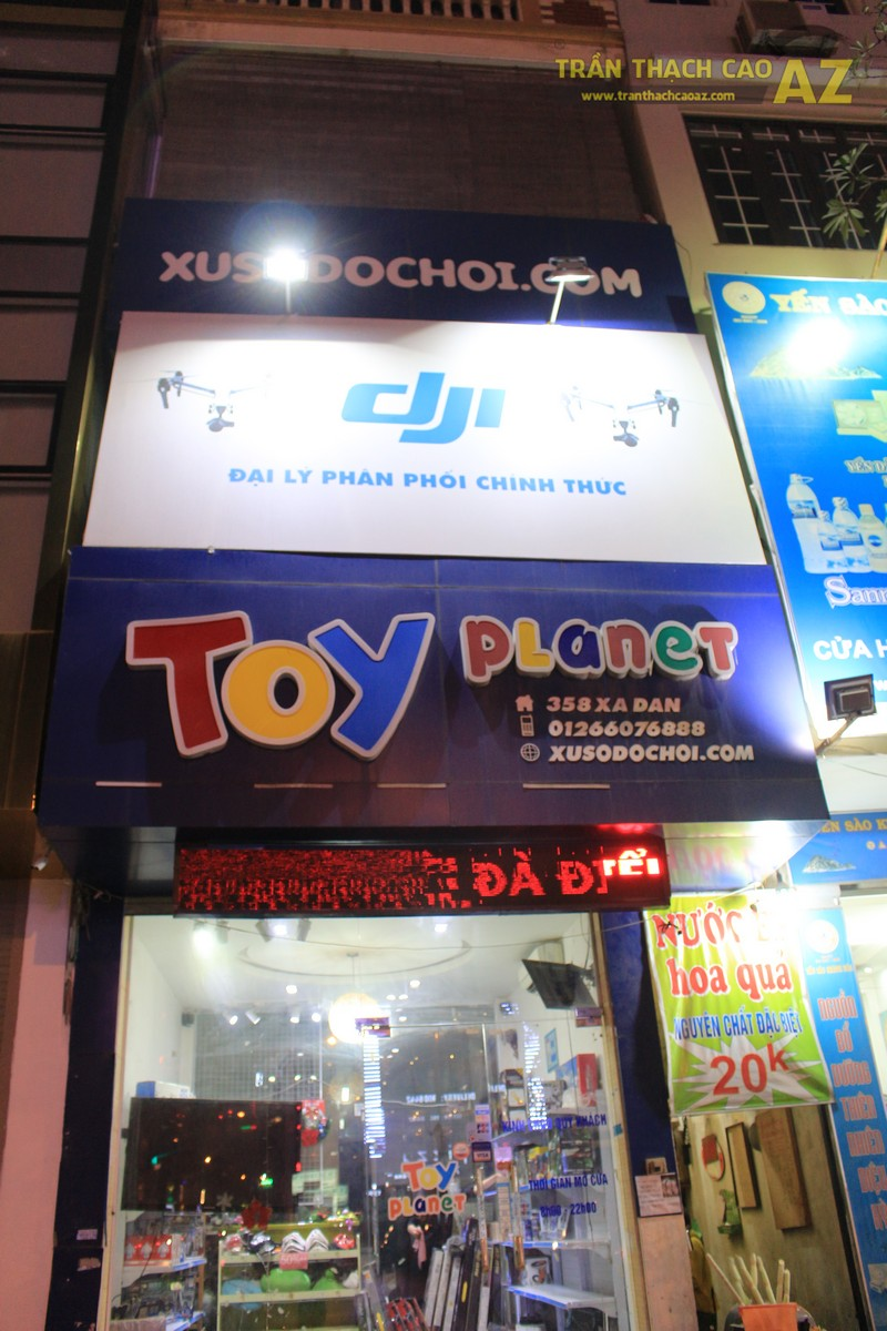 Ấn tượng với mẫu trần thạch cao cho cửa hàng đồ chơi 358 Xã Đàn, Đống Đa