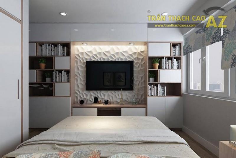 Chiêm ngưỡng mẫu thiết kế trần thạch cao cho căn hộ chung cư HH2a Linh Đàm