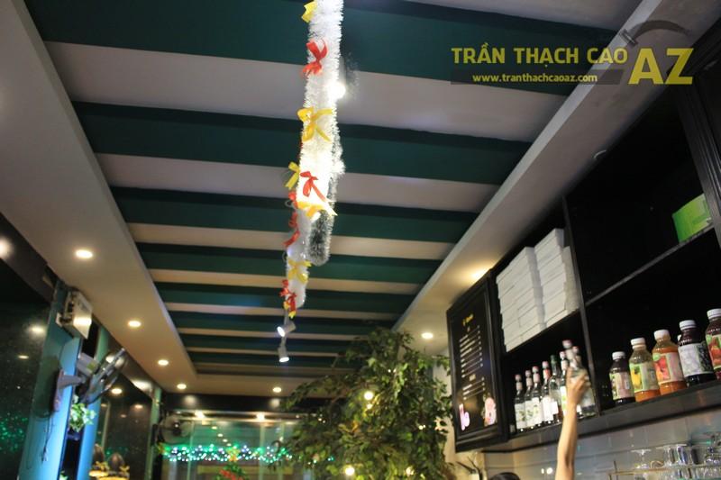 Mẫu trần thạch cao quán cafe đẹp nổi bật, ấn tượng của Gemini coffee Nam Đồng - 03