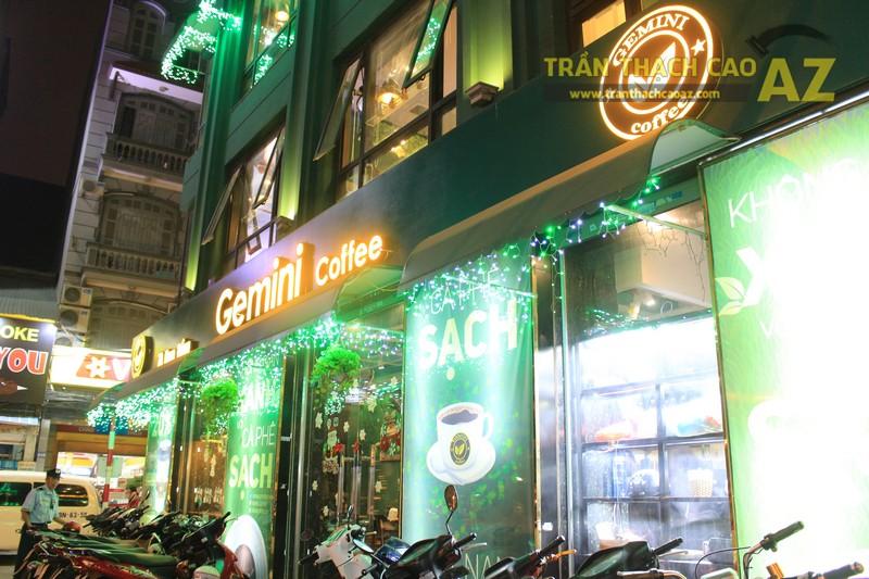 Mẫu trần thạch cao quán cafe đẹp nổi bật, ấn tượng của Gemini coffee Nam Đồng - 06