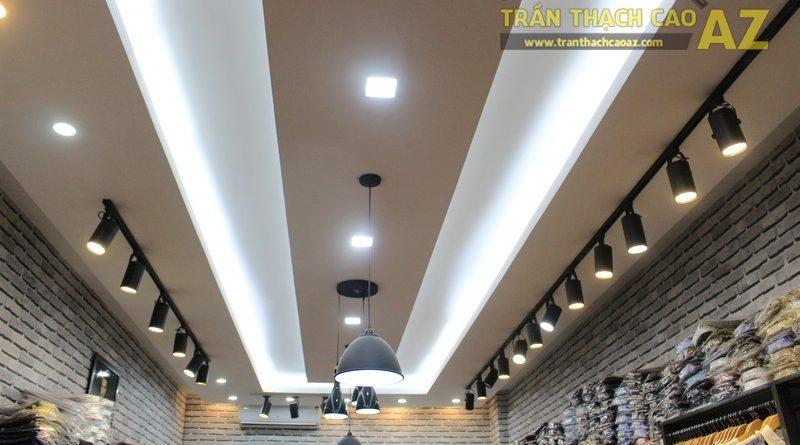 Chọn mẫu trần thạch cao shop nhỏ đẹp hiện đại như shop TINO, số 189 Xã Đàn