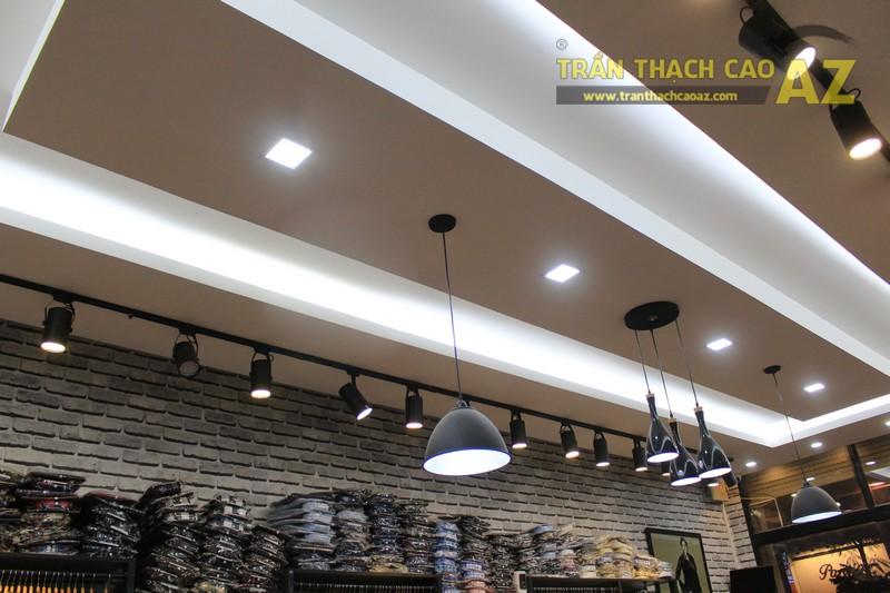 Chọn mẫu trần thạch cao shop nhỏ đẹp hiện đại như shop TINO, số 189 Xã Đàn - 04