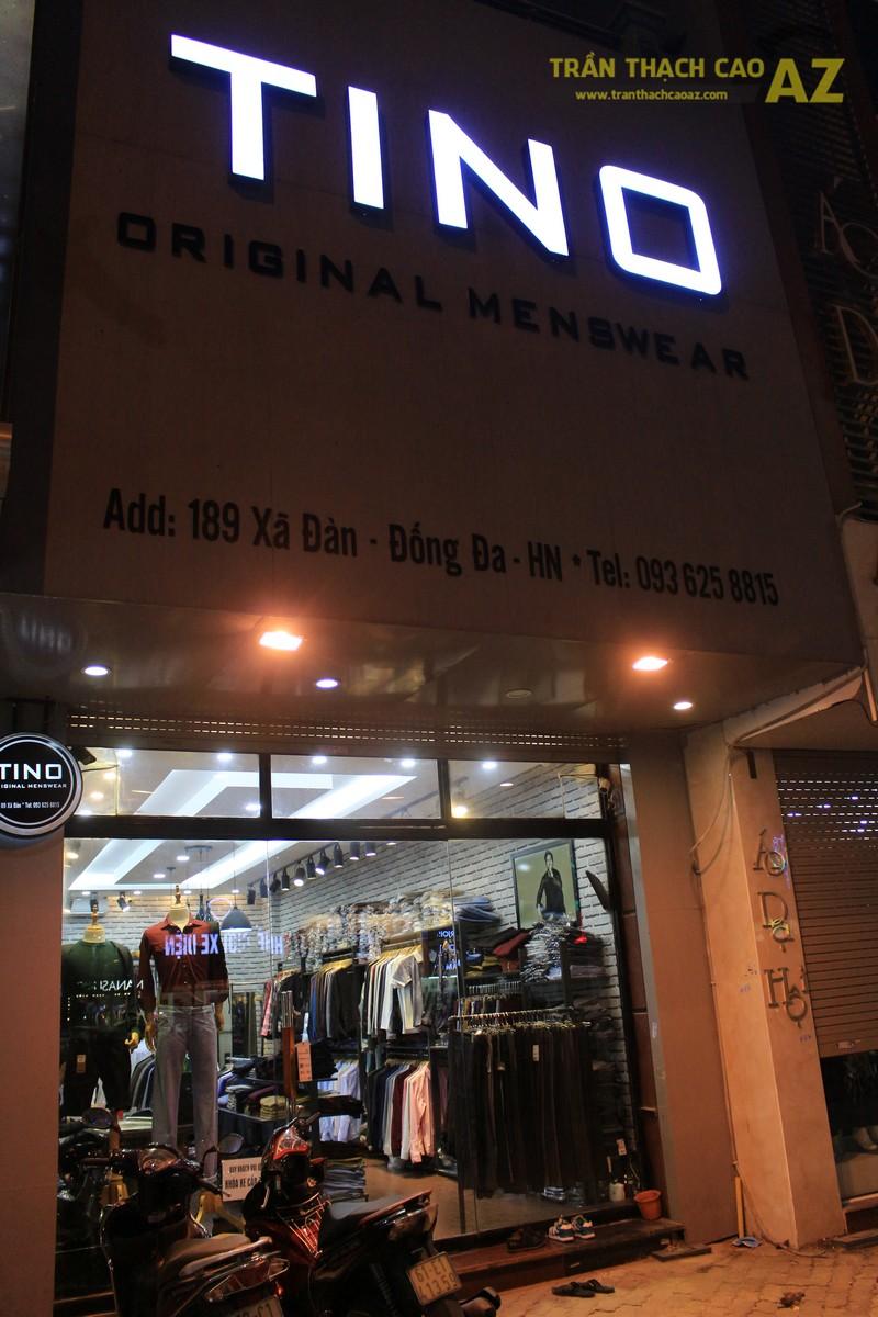 Chọn mẫu trần thạch cao shop nhỏ đẹp hiện đại như shop TINO, số 189 Xã Đàn - 06