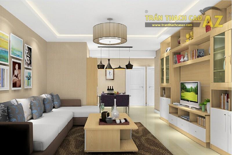 Mẫu trần thạch cao phòng khách nhỏ đẹp nhất 2016 - 12