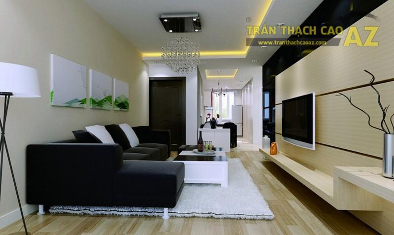 Mẫu trần thạch cao phòng khách nhỏ đẹp nhất 2016 - 13