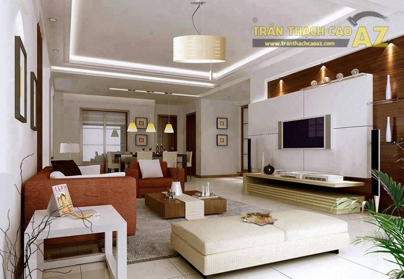 Mẫu trần thạch cao phòng khách nhỏ đẹp nhất 2016 - 04