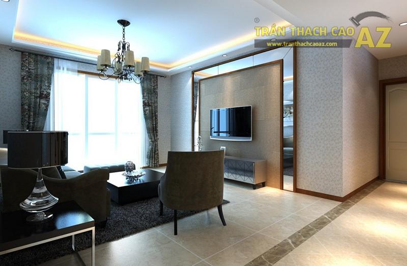 Mẫu trần thạch cao phòng khách nhỏ đẹp nhất 2016 - 02
