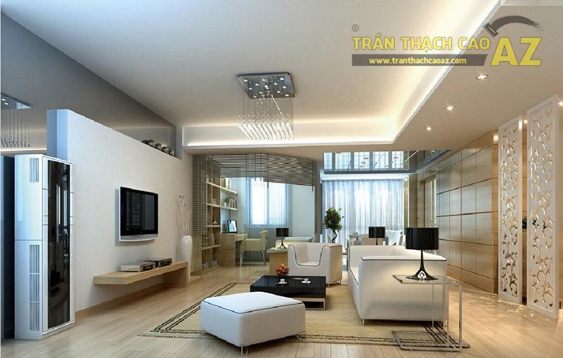 Mẫu trần thạch cao phòng khách nhỏ đẹp nhất 2016 - 17
