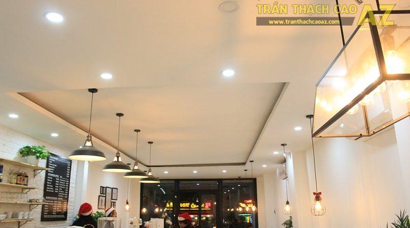 Đơn giản, nhẹ nhàng như mẫu trần thạch cao quán cafe đẹp hiện đại của CREMA, 370 Thái Hà