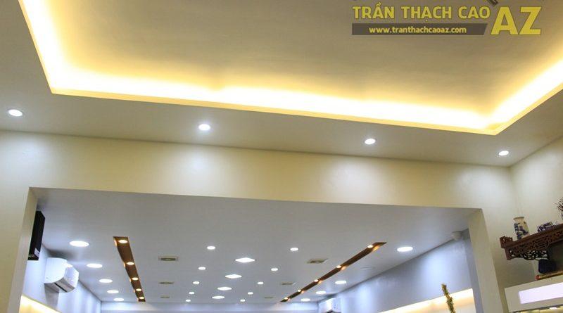 Khai thác hiệu ứng ánh sáng đẹp nổi bật như mẫu trần thạch cao Hair Salon HARU, 292 Thái Hà