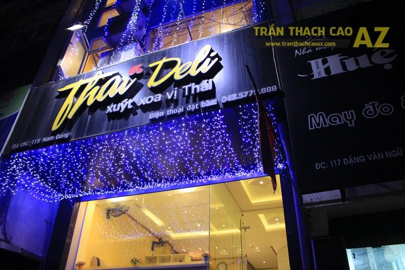 Không gian Thai Deli ấm cúng, sang trọng nhờ mẫu trần thạch cao đẹp đẳng cấp - 09