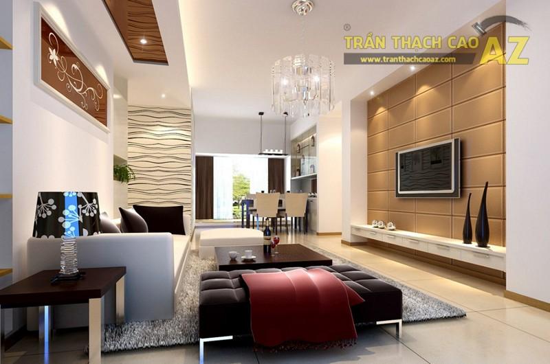 Mẫu trần thạch phòng khách từ 15m2 đẹp mỹ mãn - 01