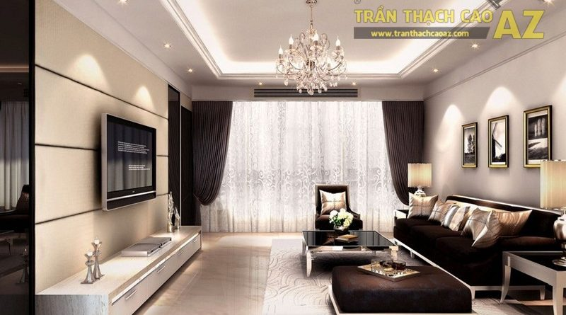 Nên chọn mẫu trần thạch cao như thế nào cho phòng khách từ 15m2?