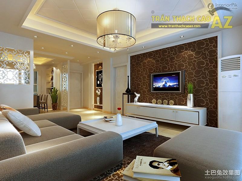 Mẫu trần thạch phòng khách từ 15m2 đẹp mỹ mãn - 02