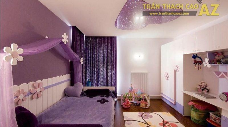 Nên sử dụng hình khối như thế nào ở trần thạch cao phòng ngủ trẻ em?