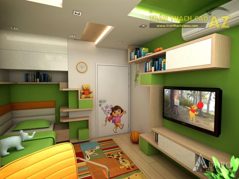 Hình khối ở trần thạch cao phòng ngủ trẻ em cần có sự đơn giản, dễ tưởng tượng và logic - 05