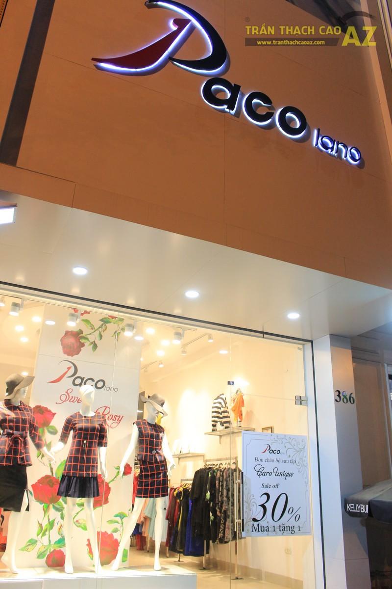 Ngắm mẫu trần thạch cao giật cấp tại cửa hàng thời trang Paco Lano số 386, Đống Đa