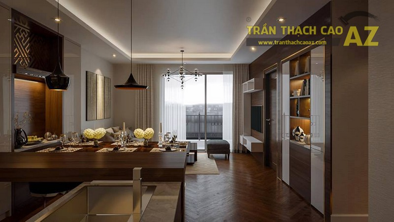 Ngắm tạo hình trần thạch cao cho căn hộ số 02, Park 6, Park Hill Time City
