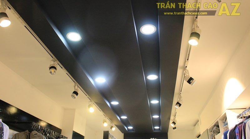 Sử dụng màu đối lập đẹp hiện đại như trần thạch cao shop THUNDER, 324 Thái Hà