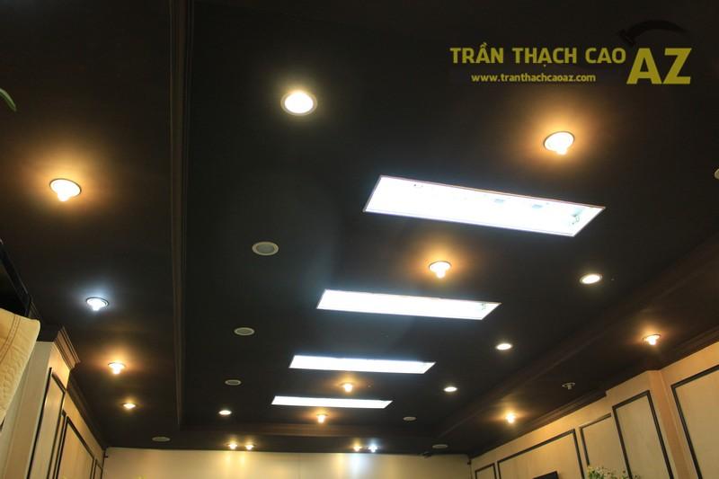 Thiết kế trần thạch cao màu đen đẹp độc đáo như cửa hàng Thanh Hương, số 368 Xã Đàn - 01