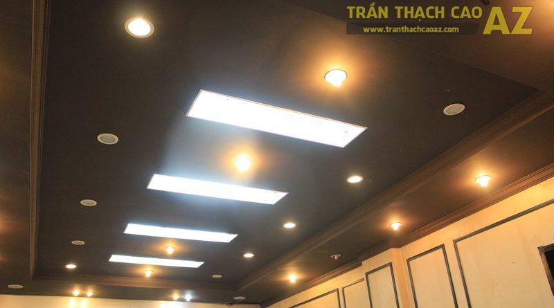 Sử dụng trần thạch cao màu đen đẹp độc đáo như cửa hàng Thanh Hương, số 368 Xã Đàn