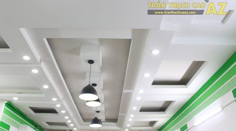 Tạo hình trần thạch cao với nhiều hình khối độc đáo của Smart Thực Phẩm Sạch, Nam Đồng