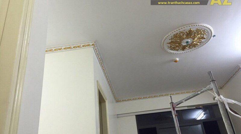 Thi công phào chỉ mâm vòm thạch cao cho nhà anh Bắc tại An Khánh, Hoài Đức, Hà Nội
