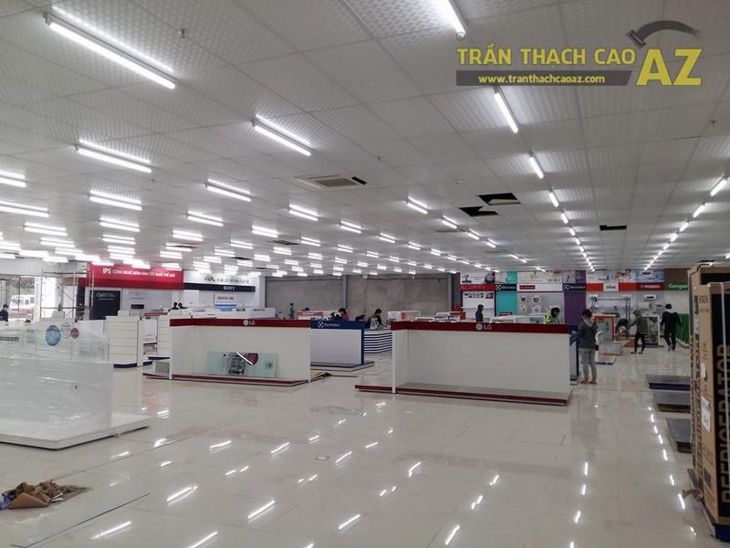 Thi công trần thạch cao cho siêu thị Trần Anh Hà Nam