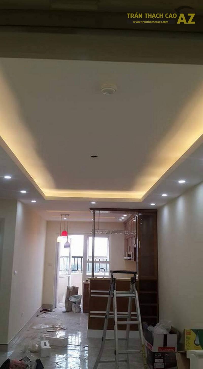 Thi công trần thạch cao chung cư thiết kế đẹp đơn giản của nhà anh Hải, tòa Linh Đàm HH2 - 01