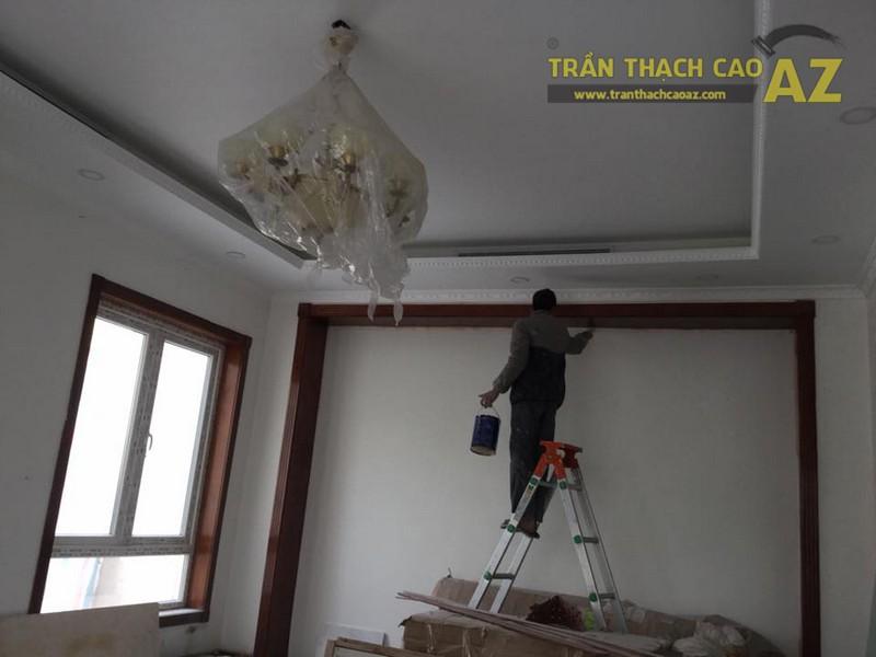 Thi công trần thạch cao cho nhà chú Đạt tại Vinhome Riverside Sài Đồng, Long Biên