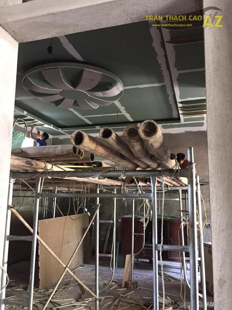 Thi công trần thạch cao phòng karaoke nhà chú Hải thị trấn Yên Lạc, Vĩnh Phúc