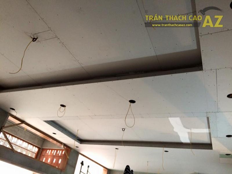 Thi công trần thạch cao sảnh của nhà hàng Vĩnh Hoàng, đường Hoàng Văn Thụ - 03