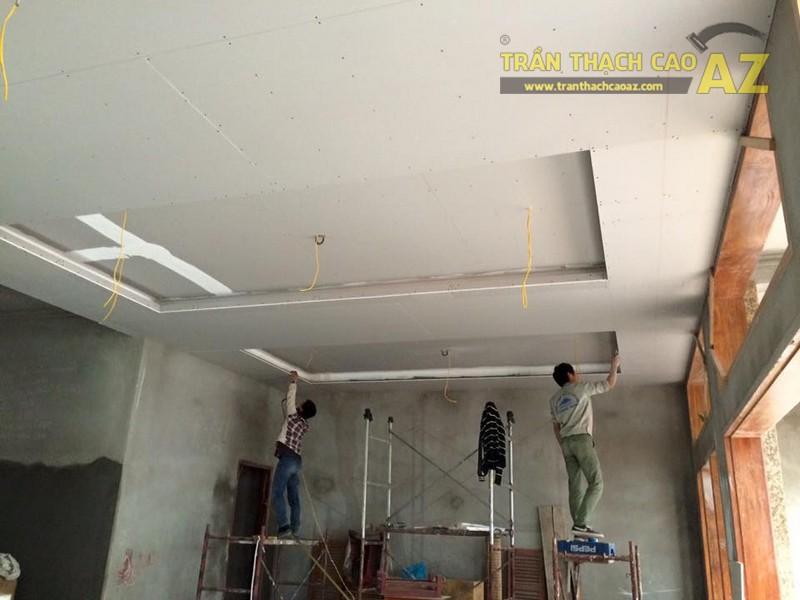 Thi công trần thạch cao sảnh của nhà hàng Vĩnh Hoàng, đường Hoàng Văn Thụ - 04