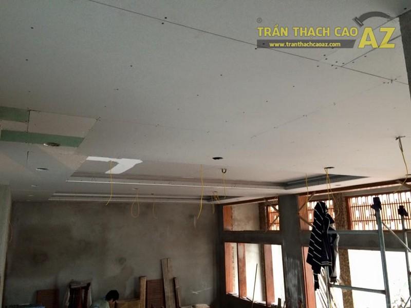Thi công trần thạch cao sảnh của nhà hàng Vĩnh Hoàng, đường Hoàng Văn Thụ - 05