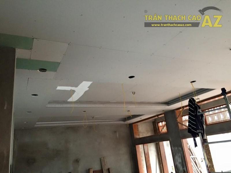 Thi công trần thạch cao sảnh của nhà hàng Vĩnh Hoàng, đường Hoàng Văn Thụ - 02