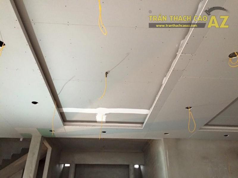 Thi công trần thạch cao sảnh của nhà hàng Vĩnh Hoàng, đường Hoàng Văn Thụ - 01