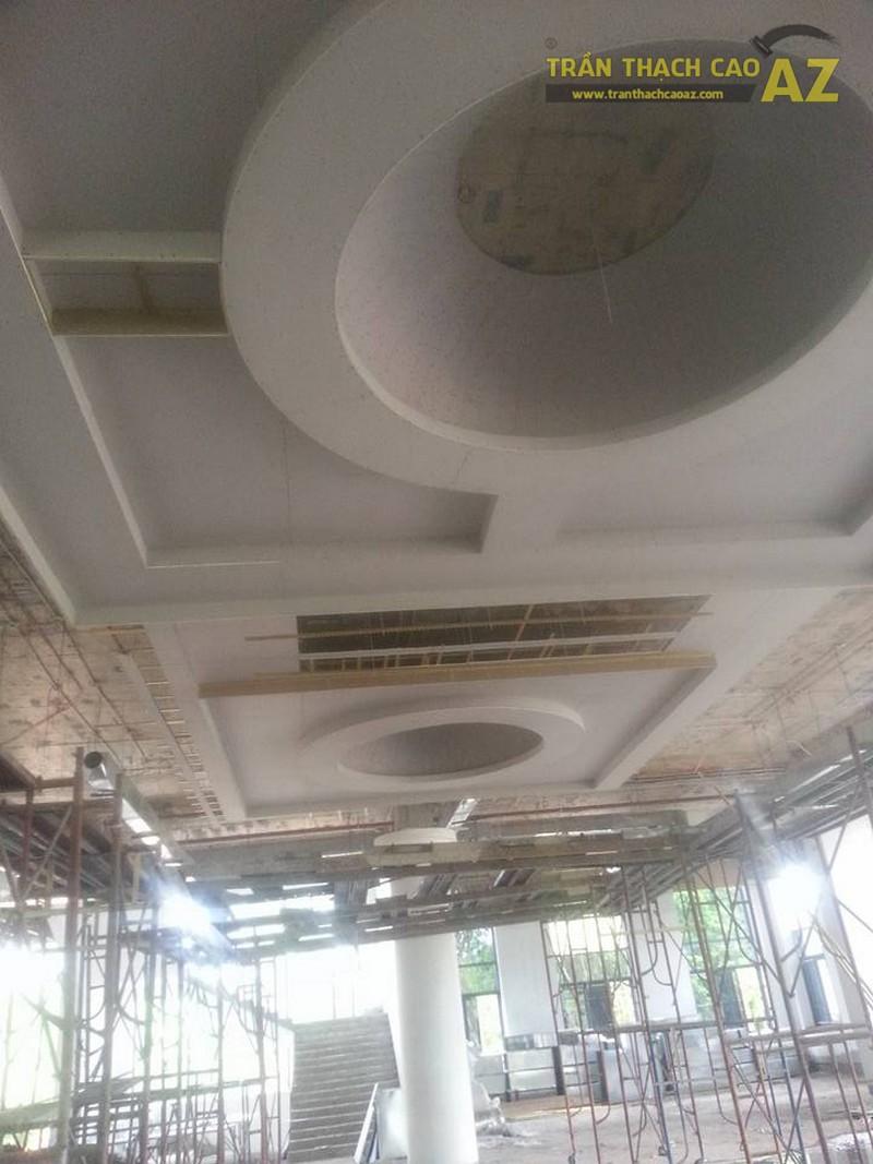 Thi công trần thạch cao trung tâm thương mại Nghĩa An - Nam Định