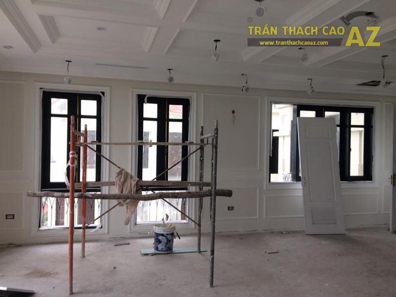 Hoàn thiện thi công trần vách thạch cao cho nhà hàng Bò tơ Tây Ninh Tài Sanh Hà Đông - 01