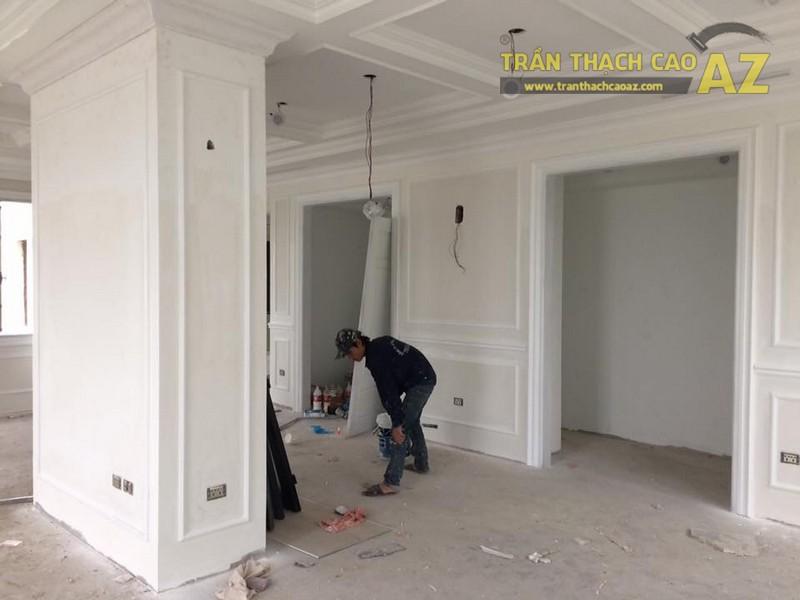 Hoàn thiện thi công trần vách thạch cao cho nhà hàng Bò tơ Tây Ninh Tài Sanh Hà Đông - 03