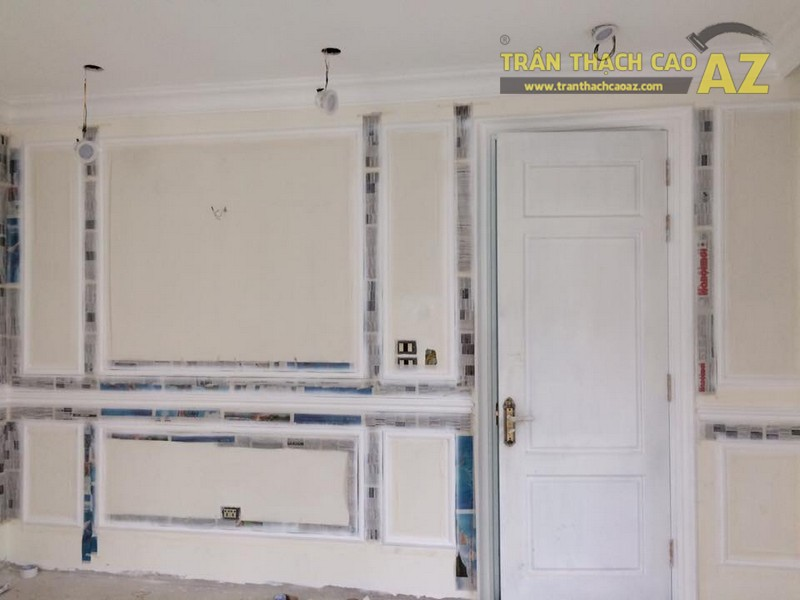 Hoàn thiện thi công trần vách thạch cao cho nhà hàng Bò tơ Tây Ninh Tài Sanh Hà Đông - 05