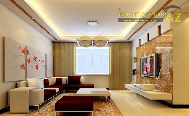 Thiết kế nội thất sang trọng, hiện đại với mẫu trần thạch cao đẹp ấn tượng - 05